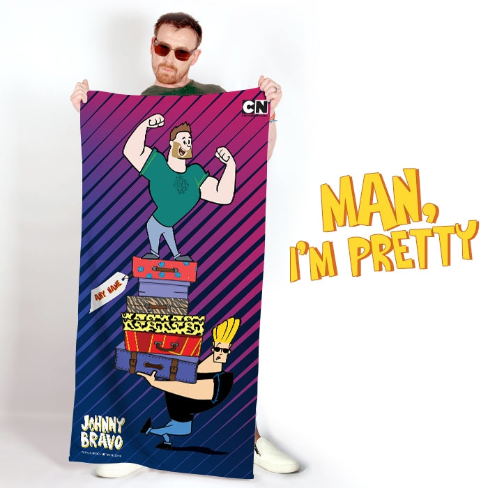 Johnny Bravo Guys Luggage Beach Towel - Image 2
