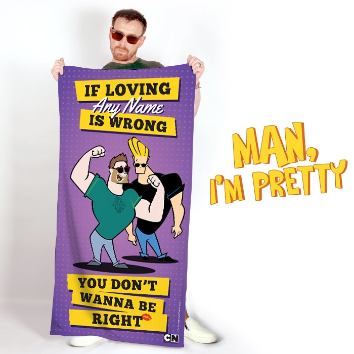 Johnny Bravo Guys Loving Me Beach Towel - Image 2