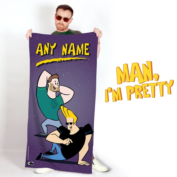 Johnny Bravo Guys Distressed Purple Beach Towel - Image 5