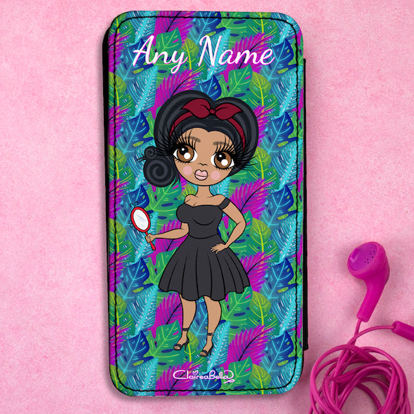 ClaireaBella Personalised Neon Leaf Flip Phone Case - Image 1