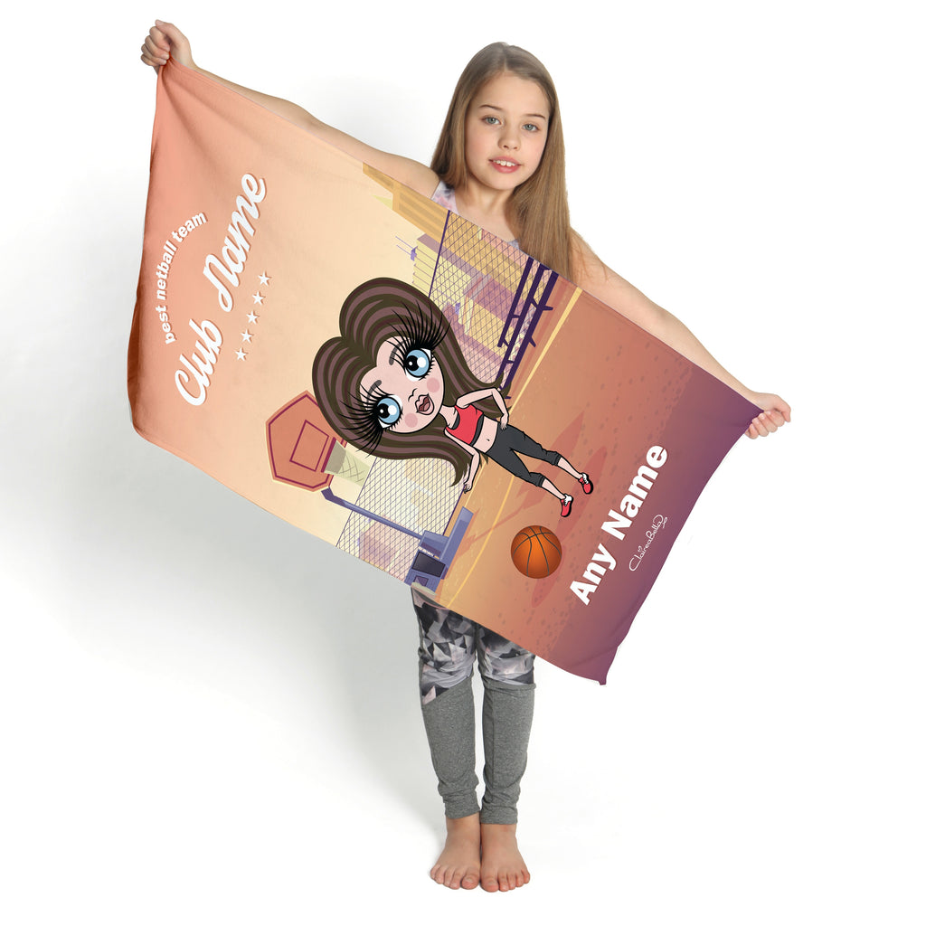 ClaireaBella Girls Netball Gym Towel - Image 2