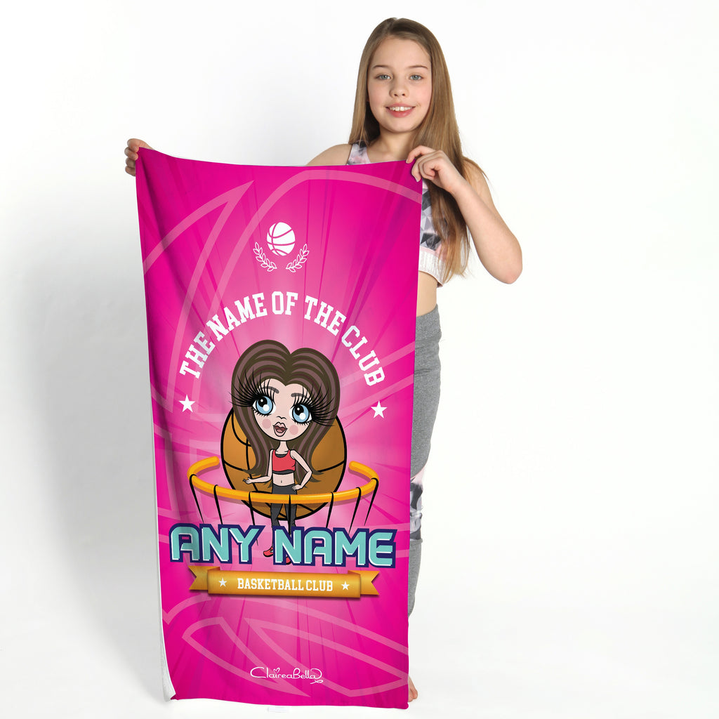 ClaireaBella Girls Netball Logo Gym Towel - Image 1
