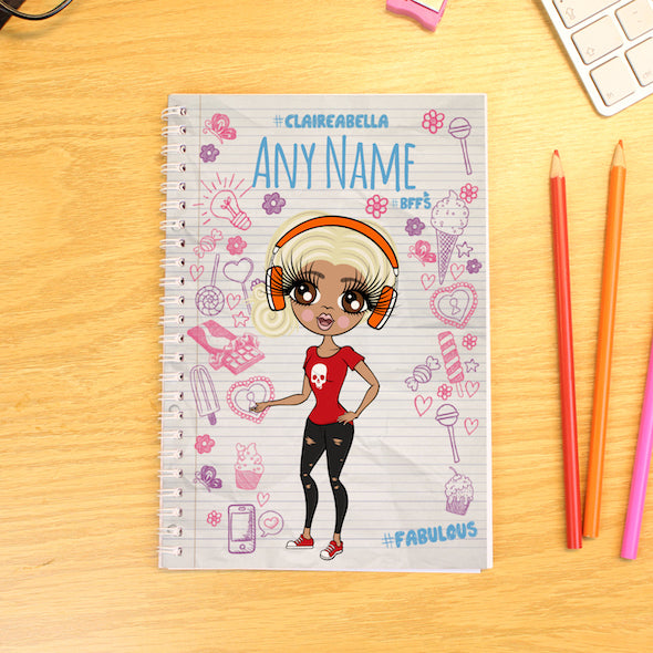 ClaireaBella Notebook Print A5 Softback Diary - Image 1
