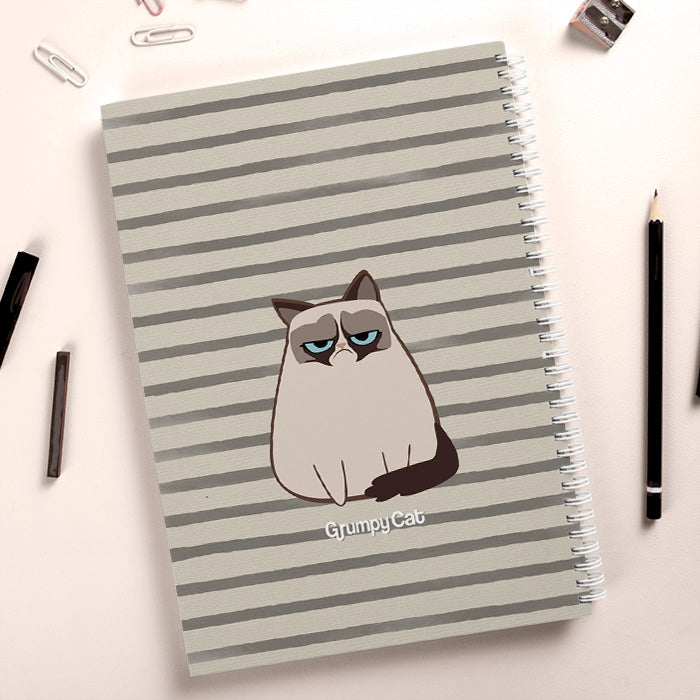 Grumpy Cat Stripe Hardback Notebook - Image 4