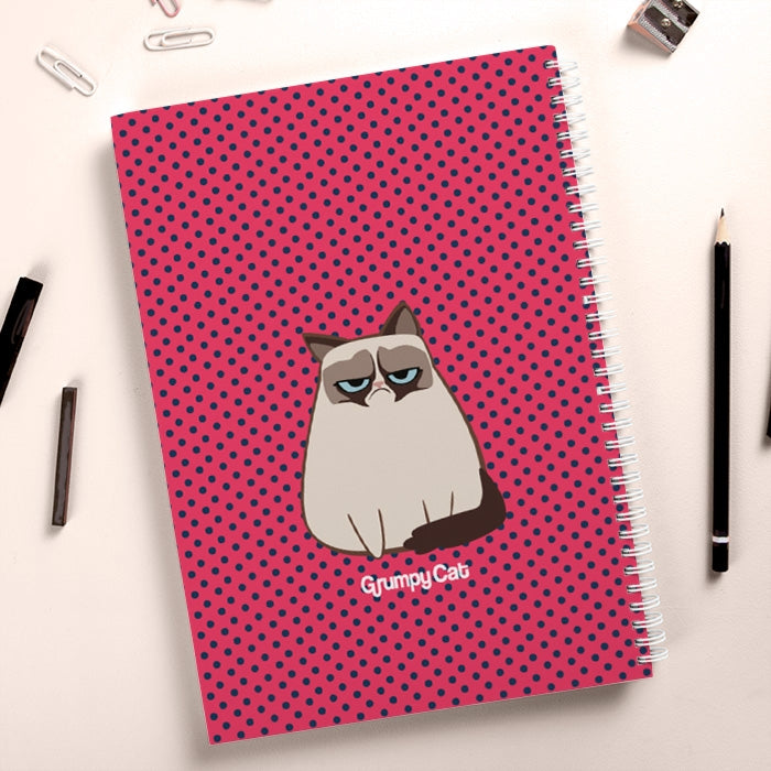 Grumpy Cat Polka Dot Hardback Notebook - Image 4