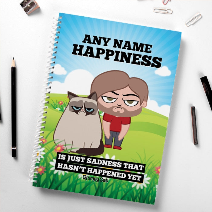 Grumpy Cat Happiness Hardback Notebook - Image 1