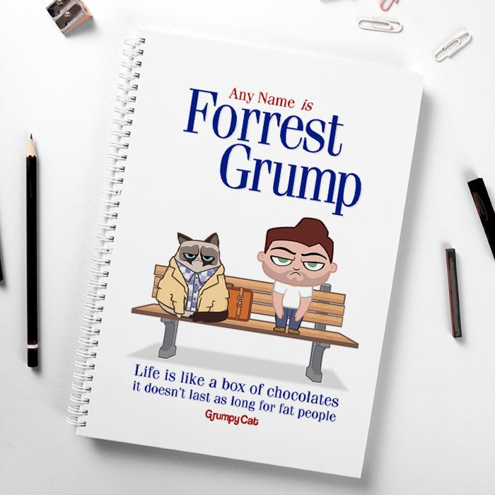 Grumpy Cat Forrest Grump Hardback Notebook - Image 1