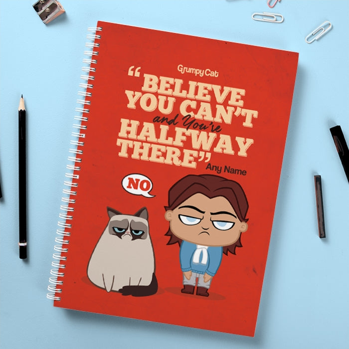 Grumpy Cat Believe Hardback Notebook - Image 1
