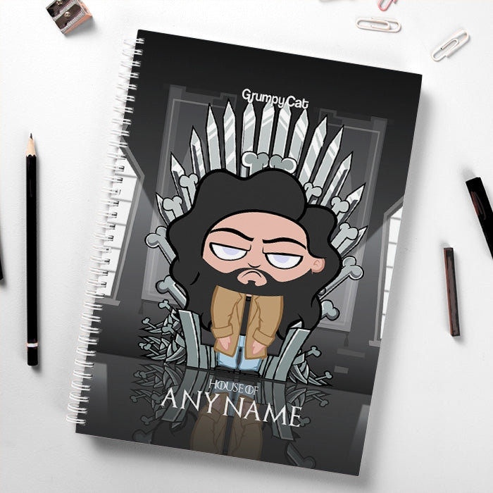 Grumpy Cat Throne Of Bones Hardback Notebook - Image 1