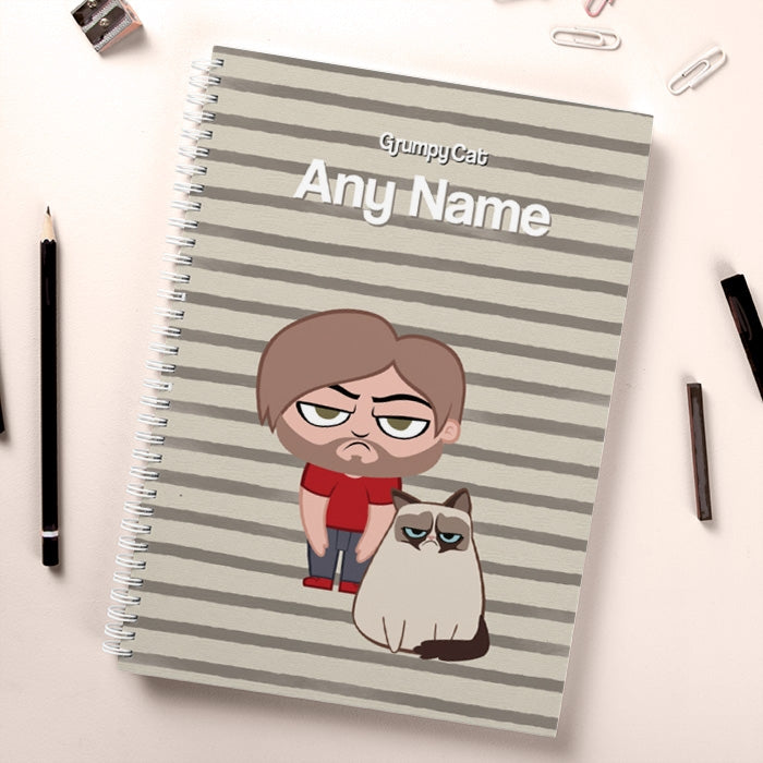 Grumpy Cat Stripe Hardback Notebook - Image 3