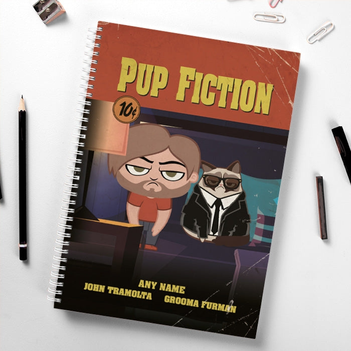 Grumpy Cat Pup Fiction Hardback Notebook - Image 1