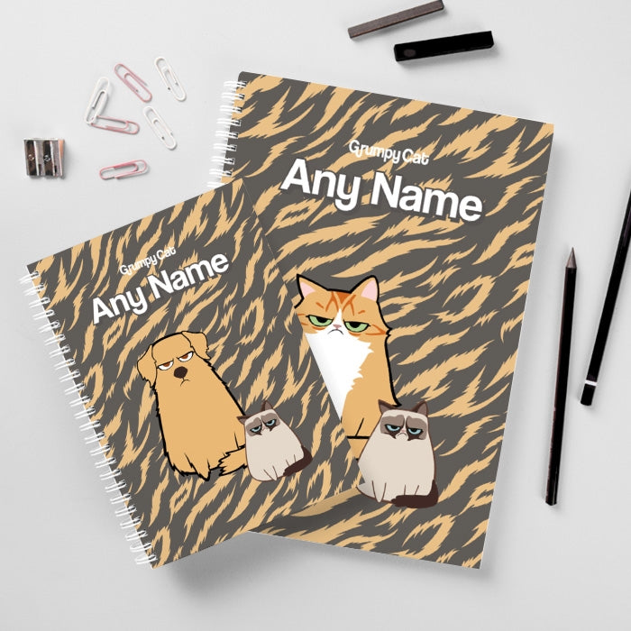 Grumpy Cat Animal Print Hardback Notebook - Image 2