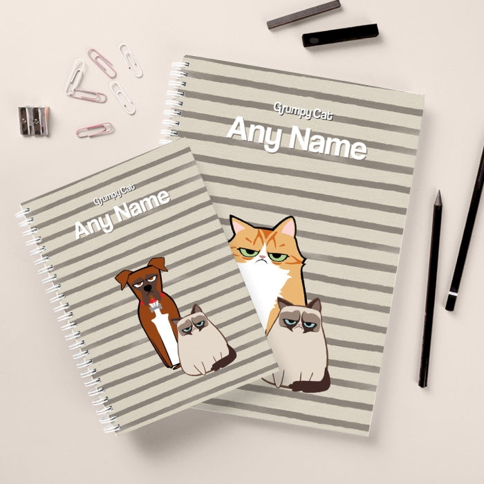 Grumpy Cat Stripe Hardback Notebook - Image 2