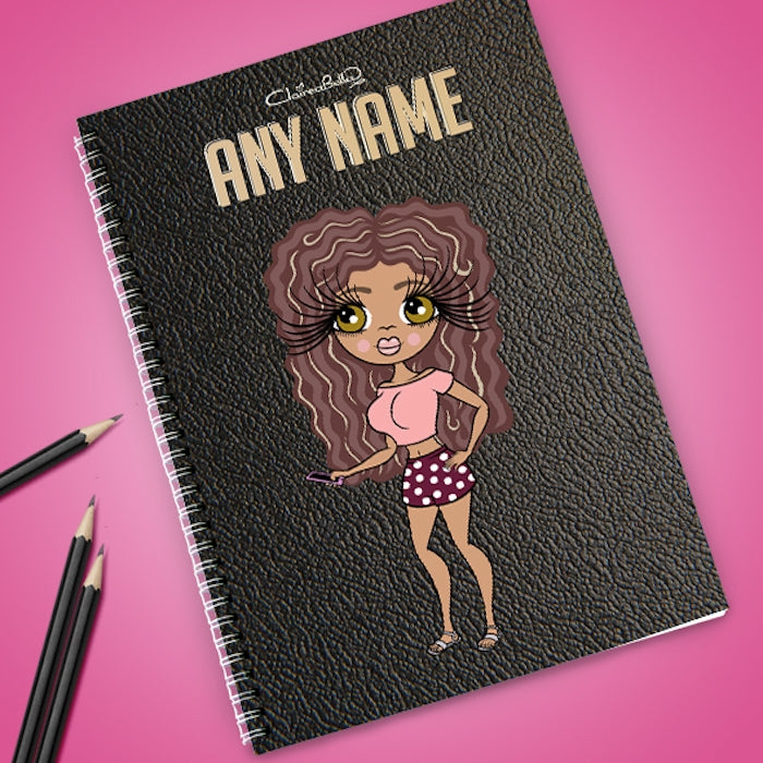ClaireaBella Black Texture Effect Notebook - Image 1