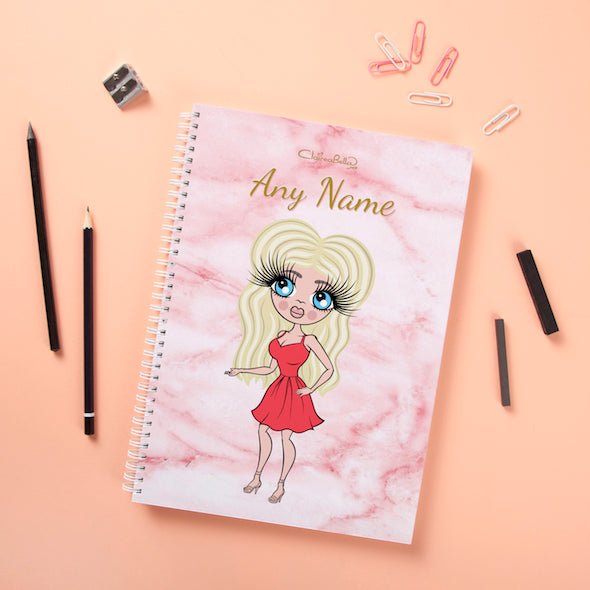 ClaireaBella Hardback Notebook - Marble Effect - Image 1