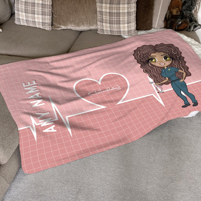 ClaireaBella Heart Beat Fleece Blanket - Image 1