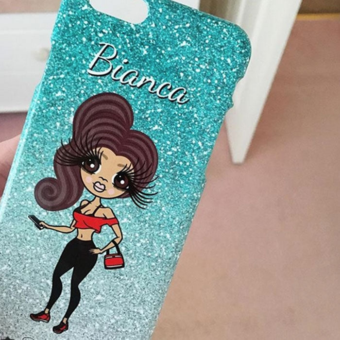 ClaireaBella Personalised Ombre Glitter Effect Phone Case - Image 8