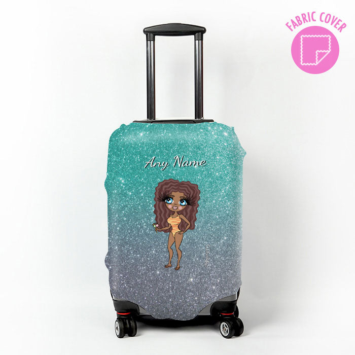 ClaireaBella Ombre Glitter Effect Suitcase Cover