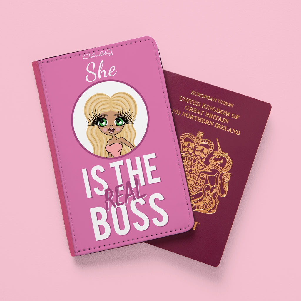 ClaireaBella The Real Boss Passport Cover - Image 1