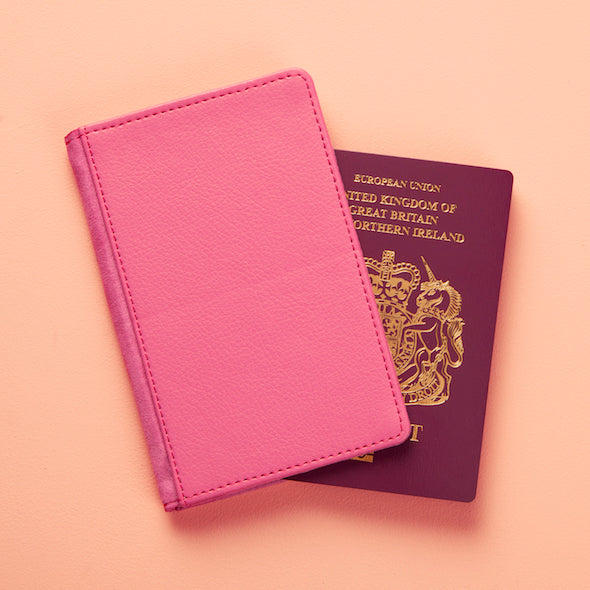 ClaireaBella Blue Polka Dot Passport Cover - Image 5