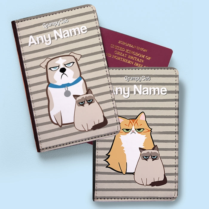 Grumpy Cat Stripe Passport Cover - Image 2
