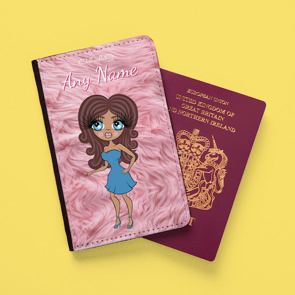 ClaireaBella Fur Effect Passport Cover - Image 1
