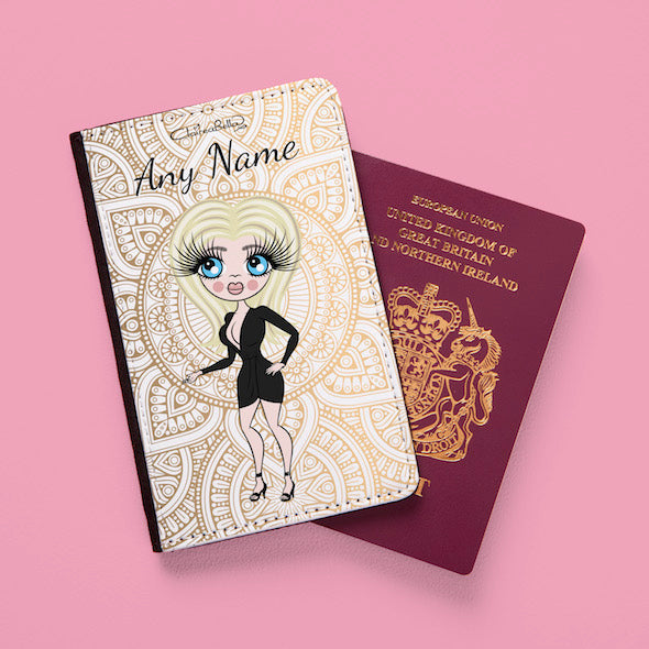 ClaireaBella Golden Lace Passport Cover - Image 2