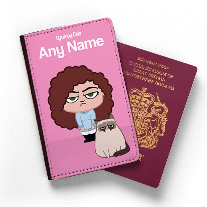 Grumpy Cat Pink Passport Cover - Image 1