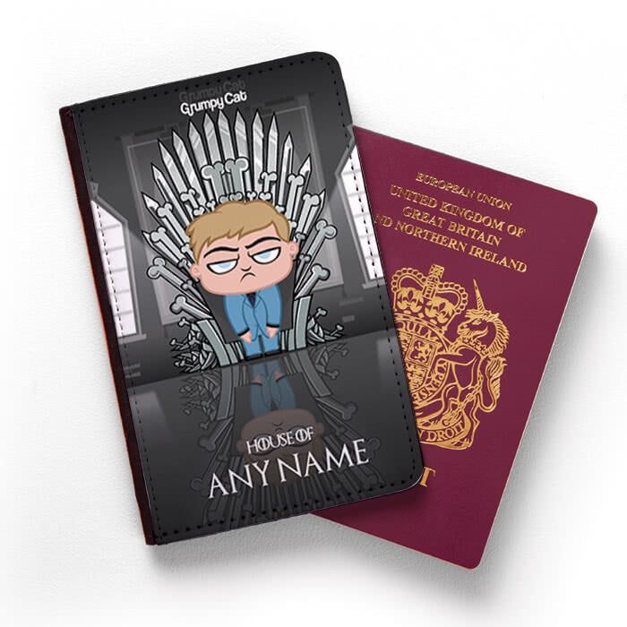 Grumpy Cat Throne Of Bones Passport Cover - Image 1