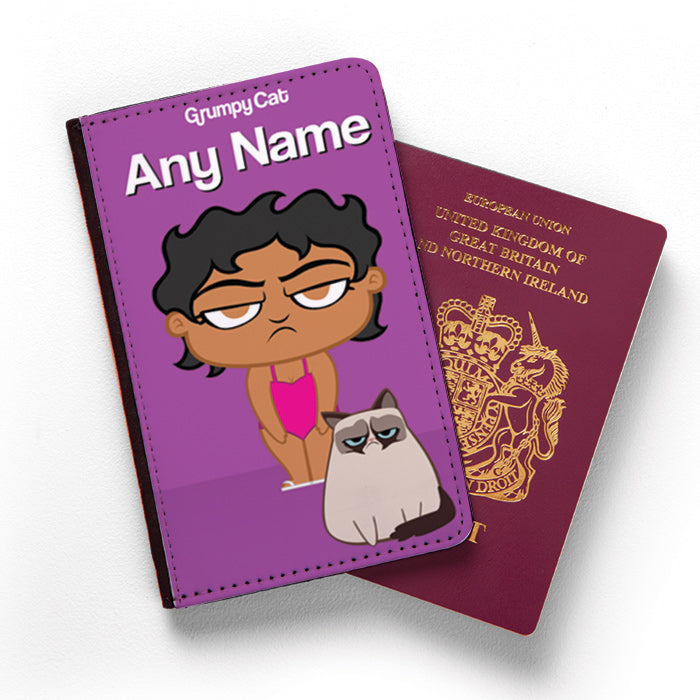 Grumpy Cat Purple Passport Cover