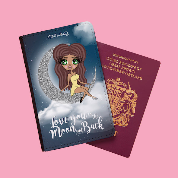 ClaireaBella Love You To The Moon Passport Cover - Image 1
