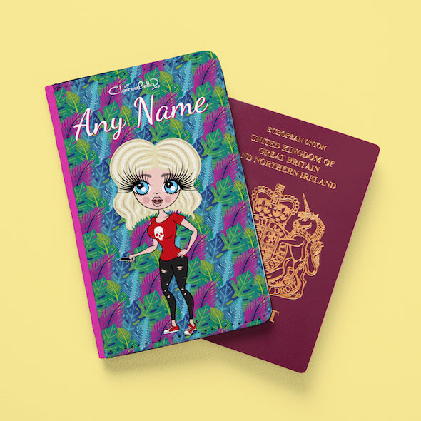ClaireaBella Neon Leaf Passport Cover - Image 2
