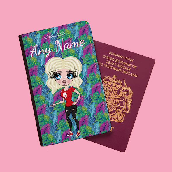 ClaireaBella Neon Leaf Passport Cover - Image 1