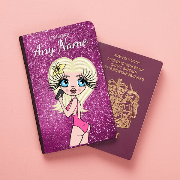 ClaireaBella Selfie Glitter Effect Passport Cover - Image 1