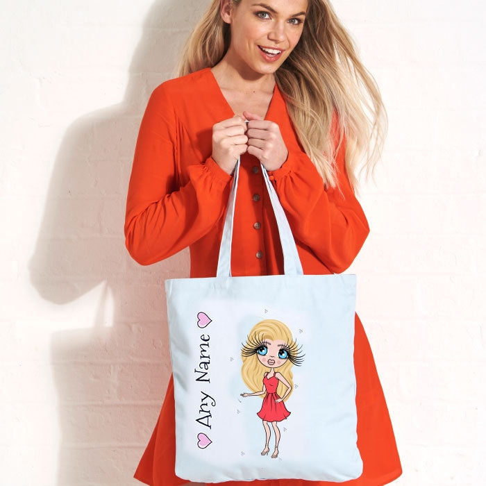 ClaireaBella Pastel Canvas Shopper - Image 1
