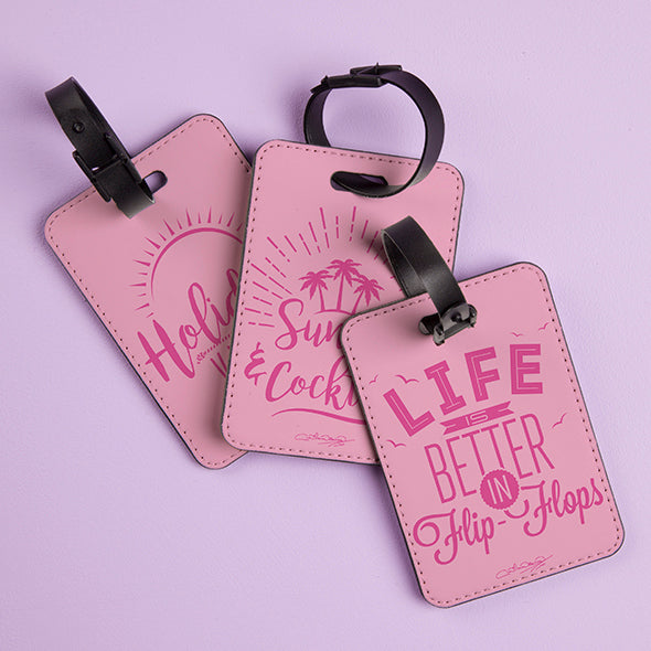 ClaireaBella Pastel Pink Luggage Tag - Image 3