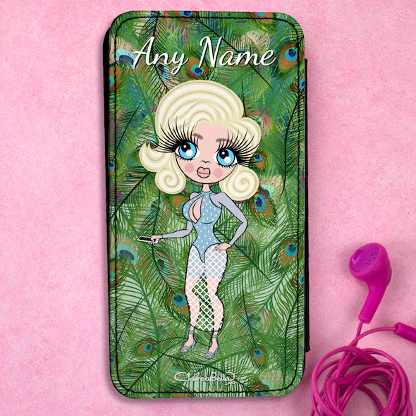 ClaireaBella Personalised Peacock Print Flip Phone Case - Image 1