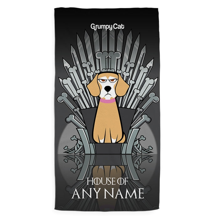 Grumpy Cat Throne Of Bones Pet Towel - Image 1