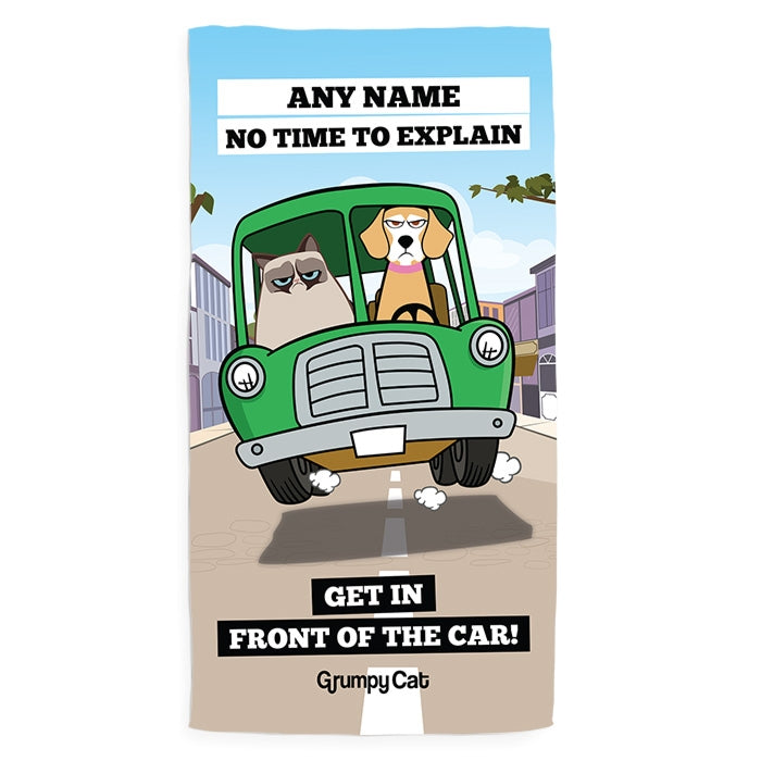 Grumpy Cat Car Pet Towel - Image 1