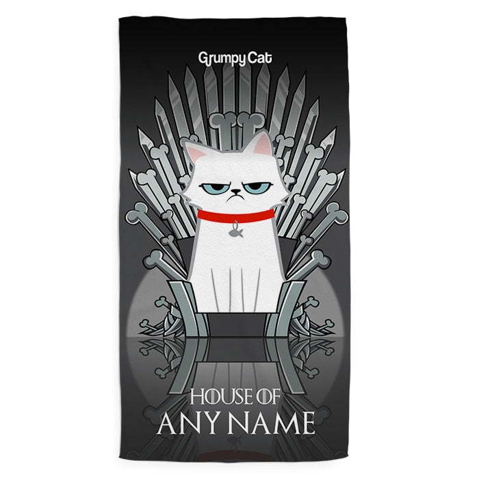 Grumpy Cat Throne Of Bones Pet Towel - Image 2