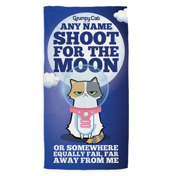Grumpy Cat Moon Pet Towel - Image 2