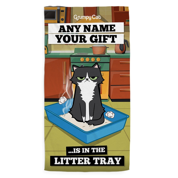 Grumpy Cat Litter Tray Pet Towel - Image 1