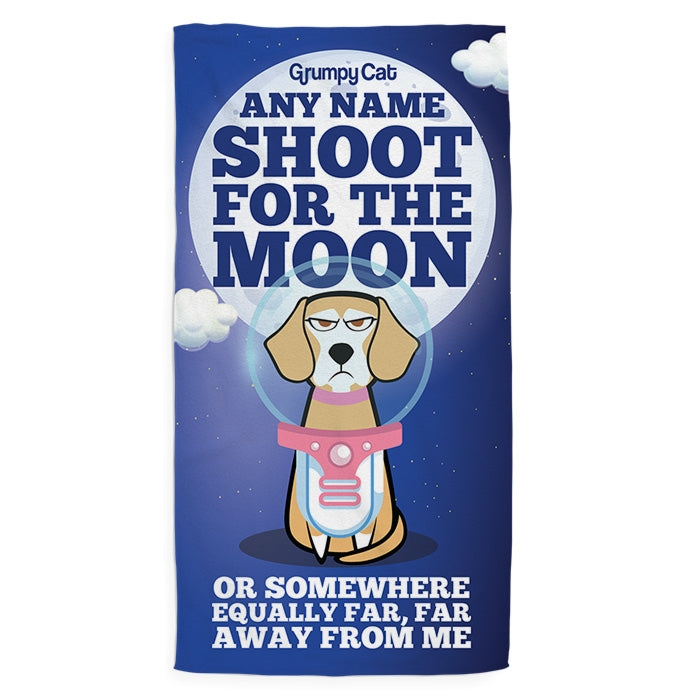 Grumpy Cat Moon Pet Towel - Image 1