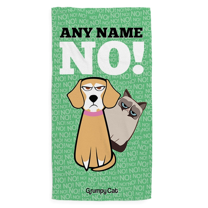 Grumpy Cat No Pet Towel - Image 1