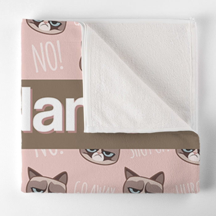 Grumpy Cat Emoji Pet Towel - Image 4