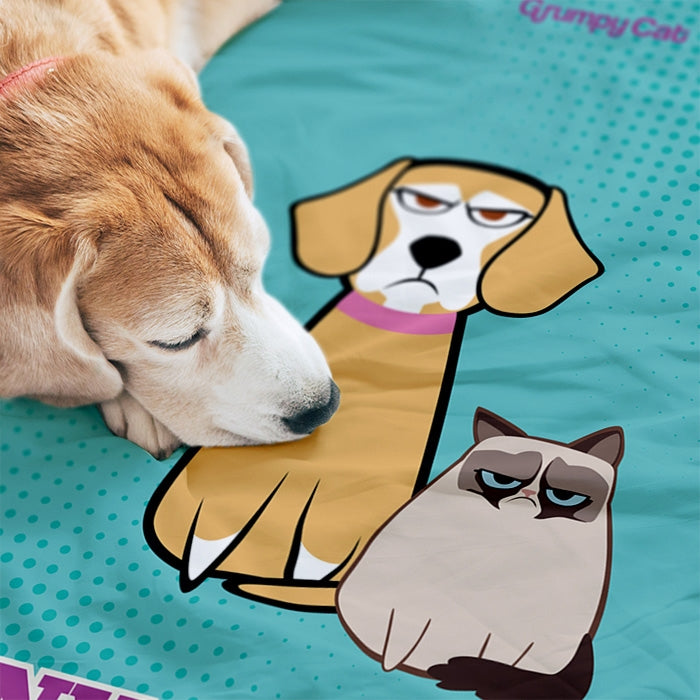 Grumpy Cat Mint Pet Blanket - Image 3