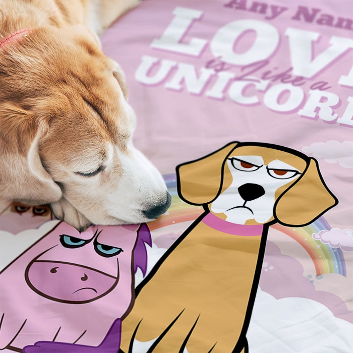 Grumpy Cat Unicorn Pet Blanket - Image 2