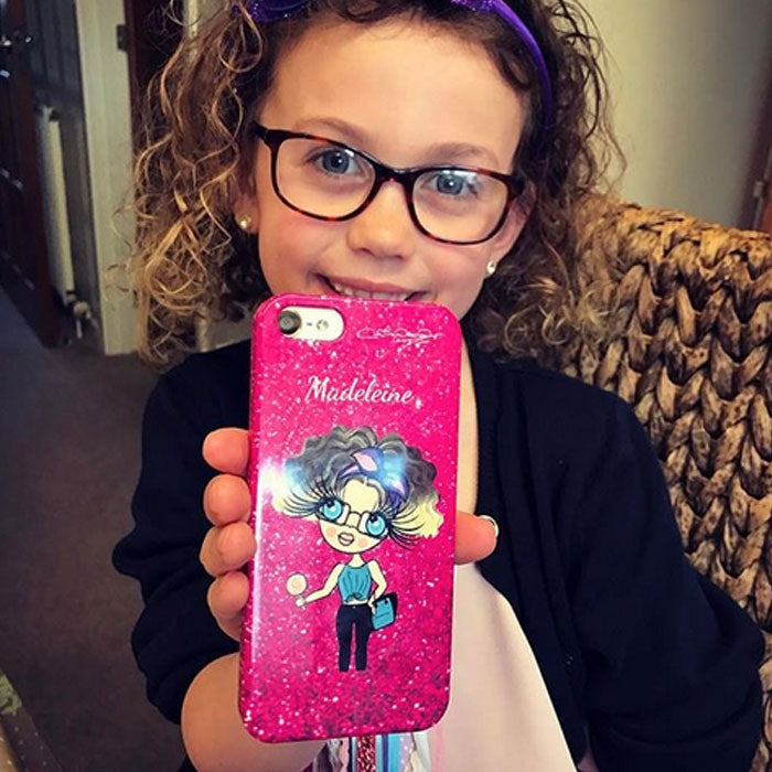 ClaireaBella Girls Personalised Glitter Effect Phone Case - Image 6