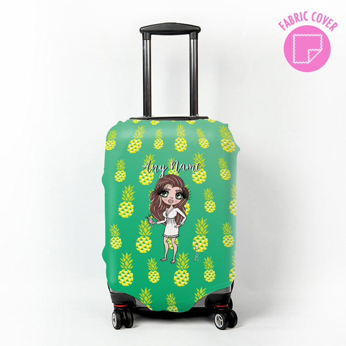 ClaireaBella Pineapple Print Suitcase Cover