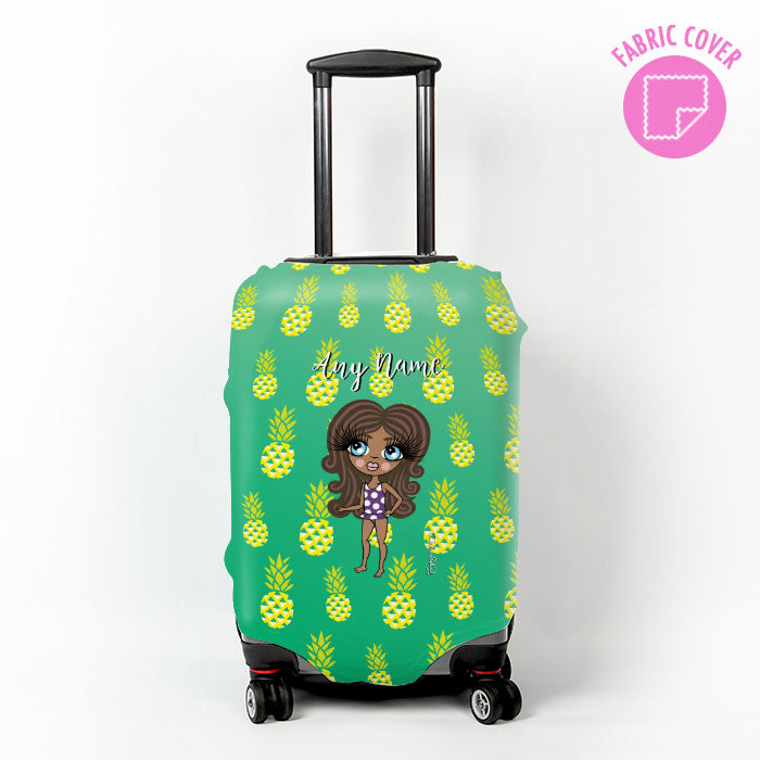 ClaireaBella Girls Pineapple Print Suitcase Cover
